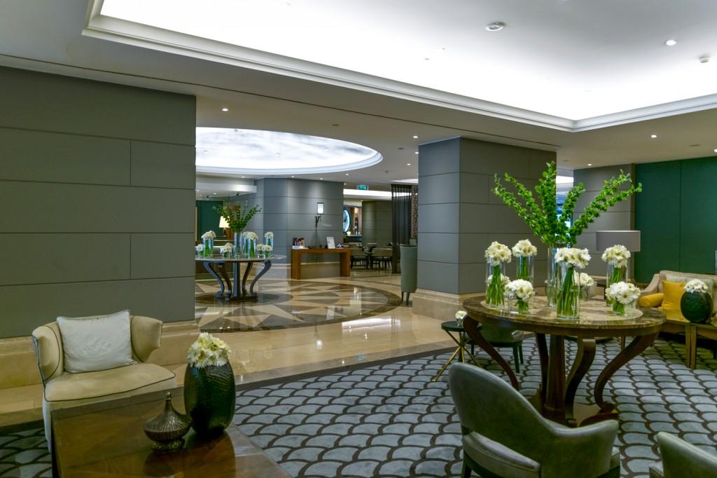 lobby at Corinthia hotel Lisbon